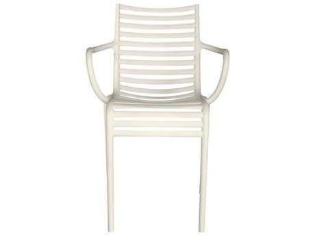 Driade Pip-e Polypropylene Monobloc Stackable Armchair in White PatioLiving