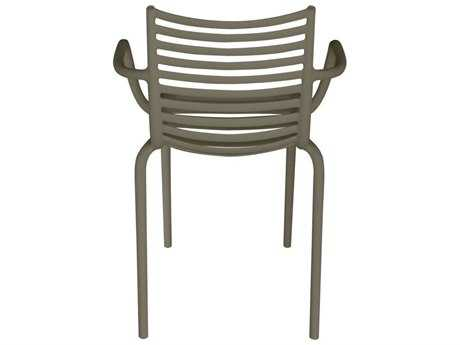 Driade Pip-e Polypropylene Monobloc Stackable Armchair in Dark Grey PatioLiving