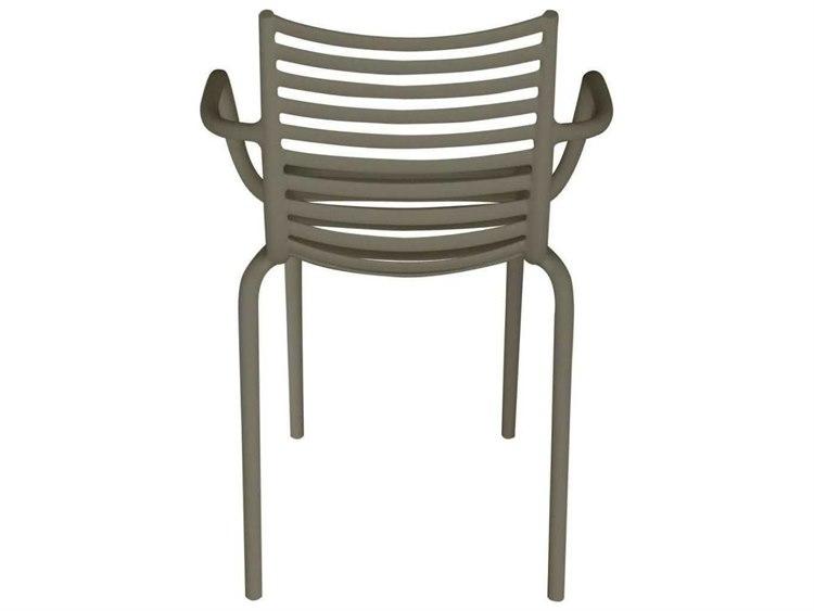 Driade Pip-e Polypropylene Monobloc Stackable Armchair in Dark Grey (Sold in Four)