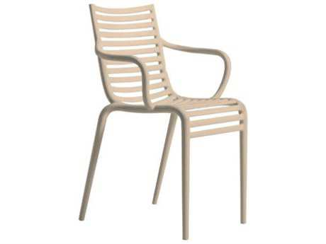 Driade Pip-e Polypropylene Monobloc Stackable Armchair in Carnation