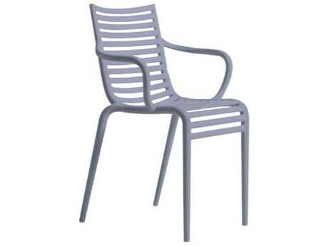 Driade Pip-e Polypropylene Monobloc Stackable Armchair in Lavender Grey PatioLiving