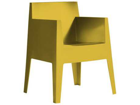 Driade Toy Polypropylene Monobloc Stackable Armchair in Mustard Yellow (Sold in Four)