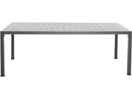 Driade Thali Aluminum 62.9''W x 35.4''D Rectangular Dining Table in Silver Grey