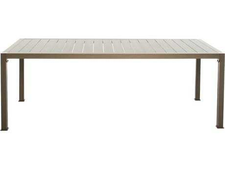 Driade Thali Aluminum 62.9''W x 35.4''D Rectangular Dining Table in Bronze
