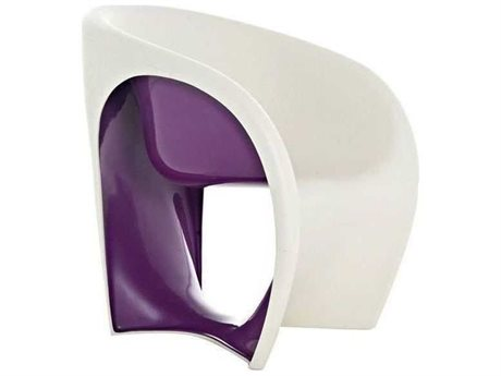 Driade Mt1 Polyenthylene Monobloc Armchair in Sand White and Lilac