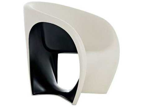 Driade Mt1 Polyenthylene Monobloc Armchair in Sand White and Black