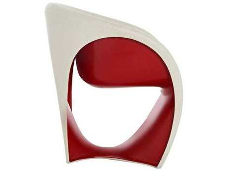 Driade Mt1 Polyenthylene Monobloc Armchair in Sand White and Red