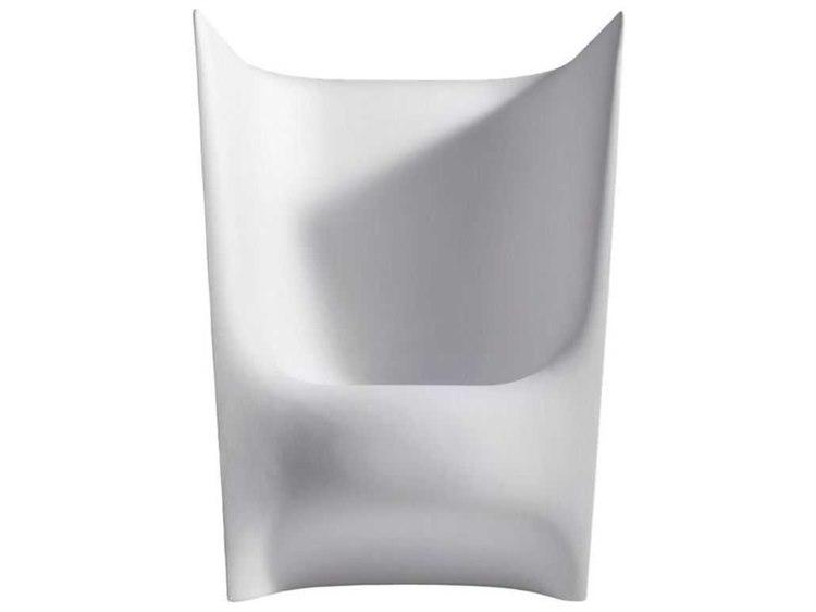 Driade Pile Grade Pile Piaffe Polyenthlene Monobloc Armchair in Light Grey PatioLiving