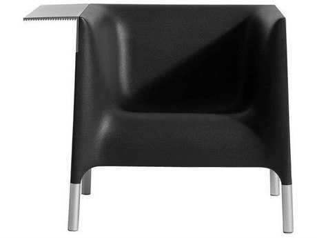 Driade Out/in Polyethylene Monobloc Armchair in Black Anthracite