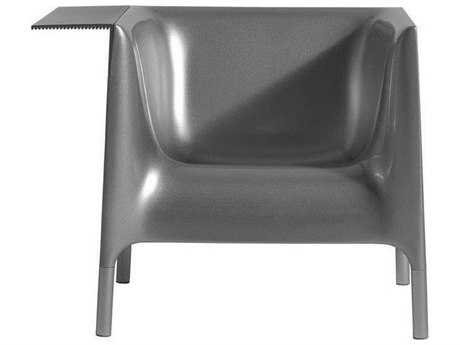 Driade Out/in Polyethylene Monobloc Armchair in Silver Grey