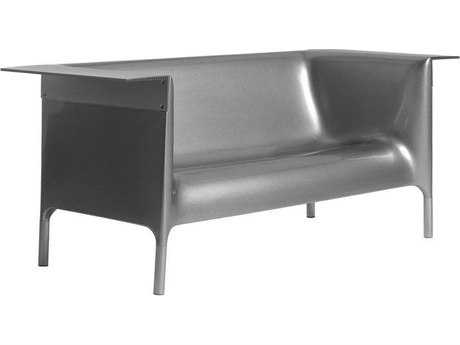 Driade Out/in Polyenthylene Monobloc Sofa in Silver Grey DRI9855008