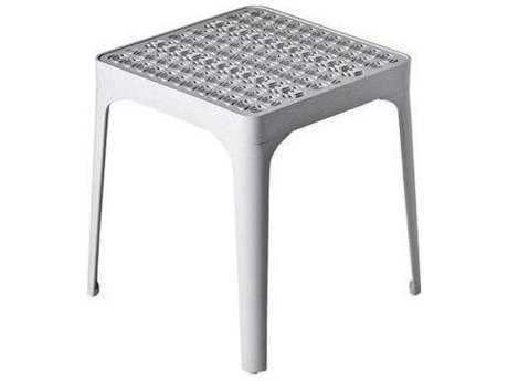 Driade Sunrise Aluminum 15.7'' Wide Square End Table