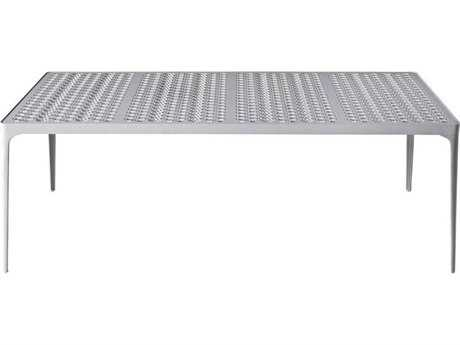Driade Sunrise Aluminum 78.7''W x 31.5''D Rectangular Dining Table