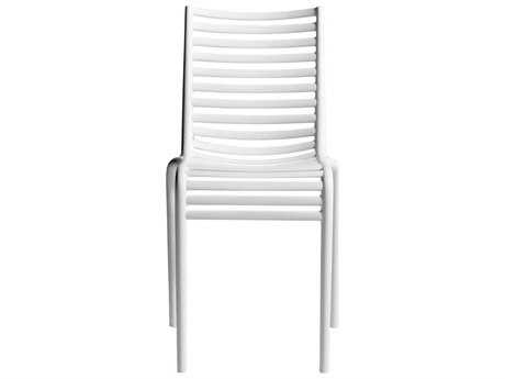 Driade Pip-e Polypropylene Monobloc Stackable Chair in White PatioLiving