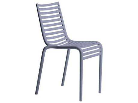 Driade Pip-e Polypropylene Monobloc Stackable Chair in Lavender Grey