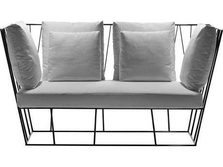 Driade Herve Steel Cushion Two-Seater Sofa