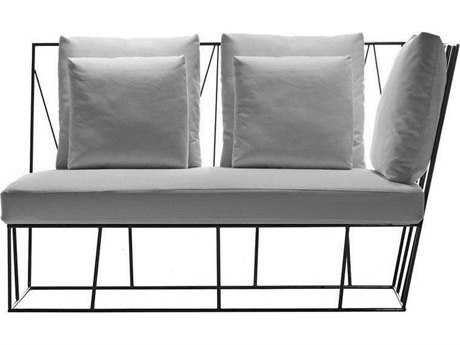 Driade Herve Steel Cushion Two-Seater Right Terminal Loveseat PatioLiving