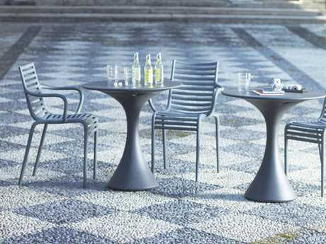 Driade Pip-e Polypropylene Monobloc Dining Set in Lavender Grey and White