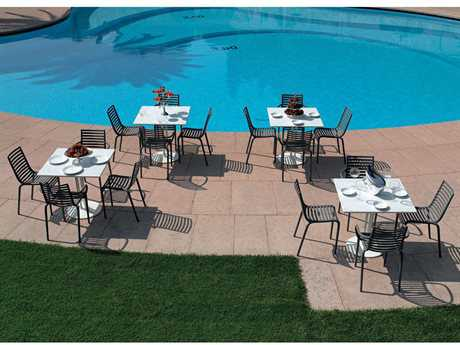 Driade Outdoor Pip-e Polypropylene Monobloc Dining Set PatioLiving