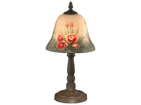 Dale Tiffany Peony Three Light Semi Flush Mount Light