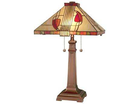 Dale Tiffany Henderson Two-Light Table Lamp