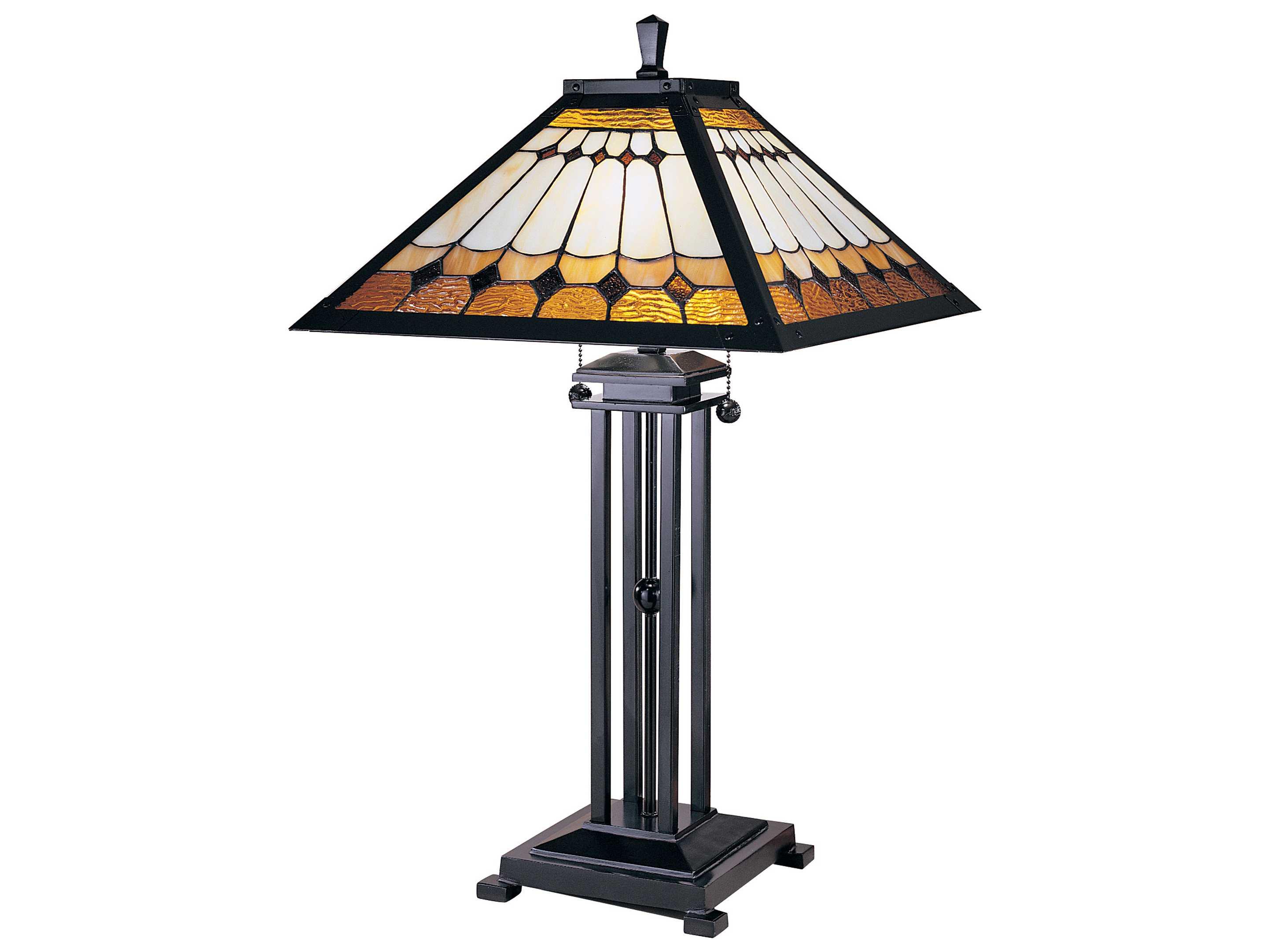 Dale Tiffany Oakdale Mission Two Light Table Lamp Dttt100131