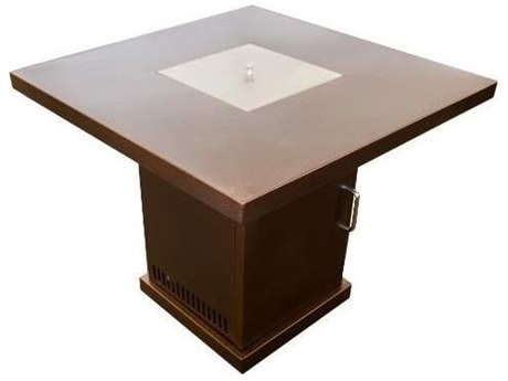 Dayva Conventional Propane Aluminum 30''Wide Square Fire Pit Table PatioLiving