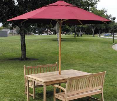 Dayva Ambrosia 9' Octagon Wood Pulley Umbrella DVUK109