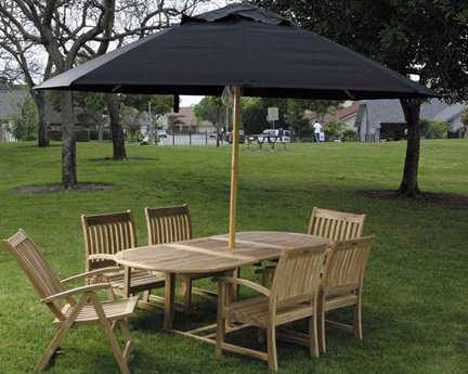 Dayva Ambrosia 11' Octagon Wood Pulley Umbrella DVUK111