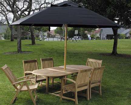 Dayva Ambrosia 11' Octagon Wood Pulley Umbrella PatioLiving