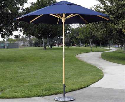 Dayva Catalina Wood 9' Octagon 2 Piece Pole Umbrella PatioLiving