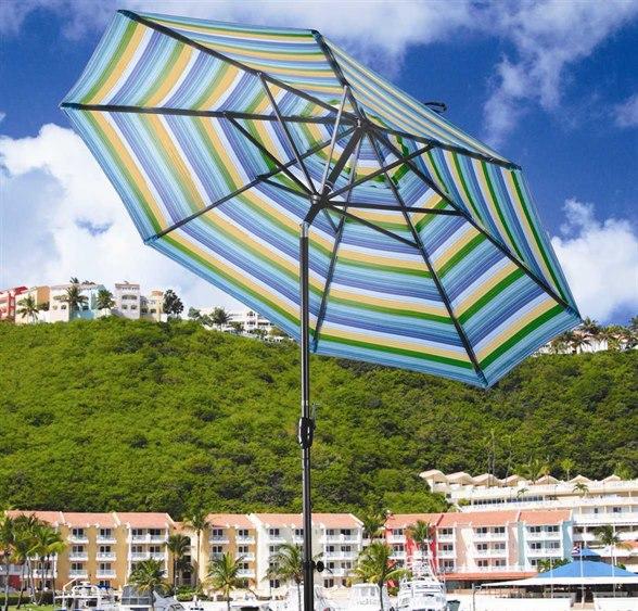 Dayva Monterey 7 5 Octagon Aluminum Crank Tilt Umbrella