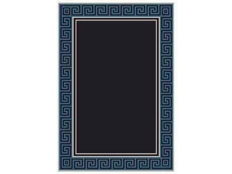 Dynamic Rugs Piazza Rectangular Black & Blue Area Rug
