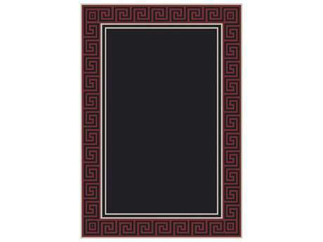 Dynamic Rugs Piazza Rectangular Black & Red Area Rug