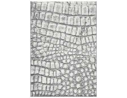 Dynamic Rugs Mysterio Rectangular Silver Area Rug