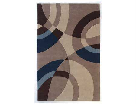 Dynamic Rugs Nolita Rectangular Beige & Blue Area Rug