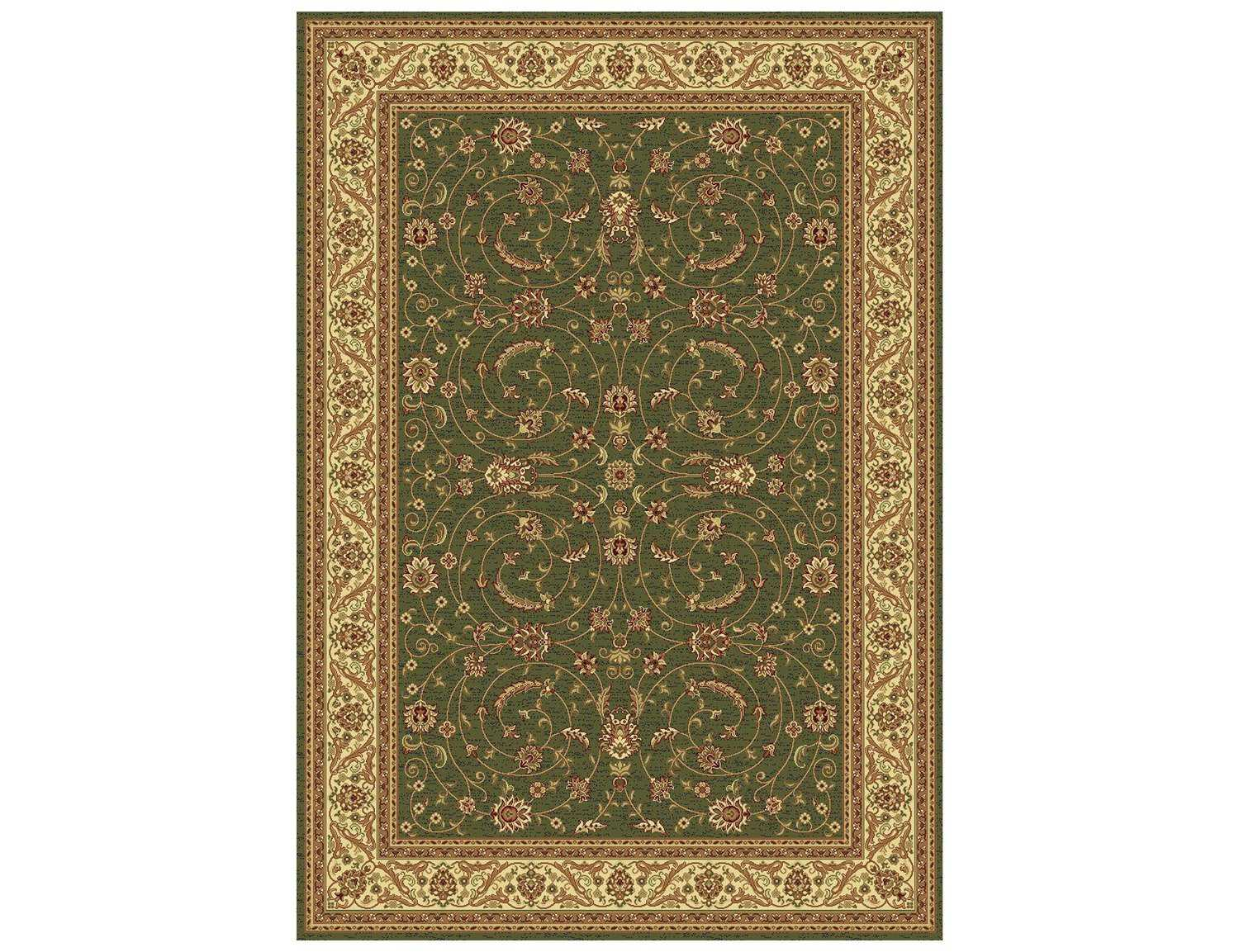 Dynamic rugs taj rectangular green cream area rug for Green and cream rugs