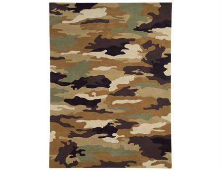 Dynamic Rugs Fantasia Rectangular Army Area Rug