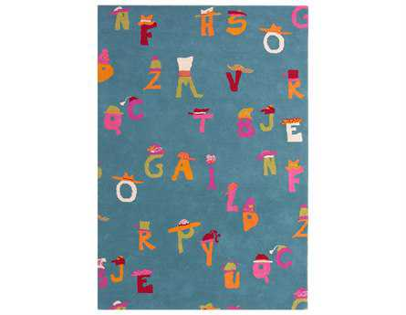 Dynamic Rugs Ancient Garden Rectangular Blue Area Rug
