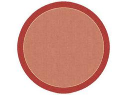 Dynamic Rugs Piazza Round Red Area Rug