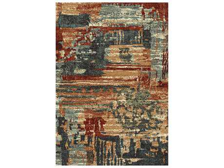Dynamic Rugs Infinity Rectangular Brown Area Rug