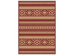 Dynamic Rugs Piazza Rectangular Red Area Rug