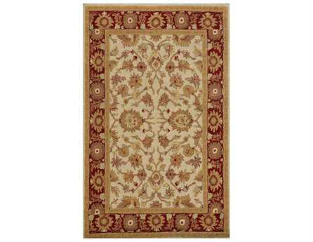 Dynamic Rugs Sapphire Rectangular Ivory & Red Area Rug