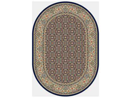 Dynamic Rugs Ancient Garden Oval Black & Ivory Area Rug