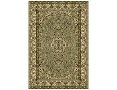 Dynamic Rugs Ancient Garden Rectangular Olive Area Rug