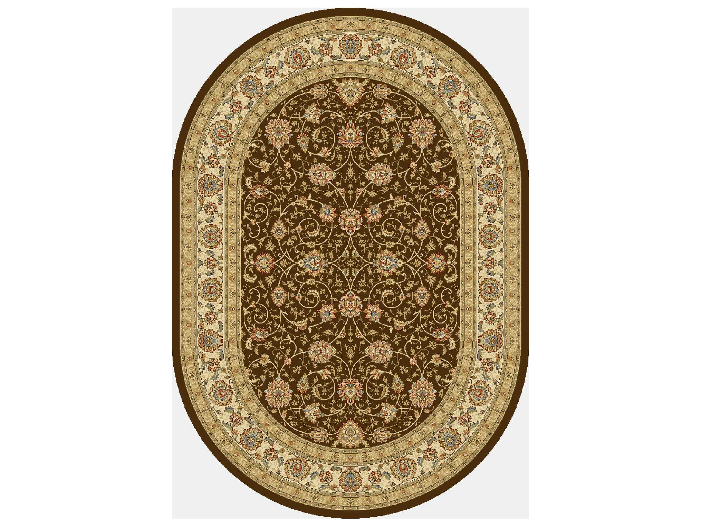 Dynamic Rugs Ancient Garden Oval Chocolate Amp Ivory Area