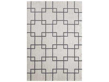Dynamic Rugs Silky Shag Rectangular White Area Rug
