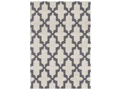 Dynamic Rugs Silky Shag Rectangular White Area Rug