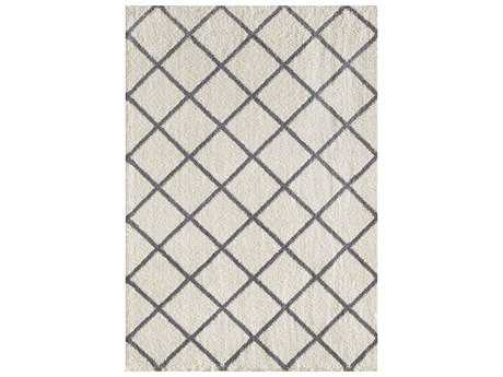 Dynamic Rugs Silky Shag Rectangular Ivory & Grey Area Rug