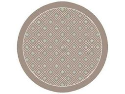 Dynamic Rugs Piazza Round Natural Brown Area Rug
